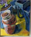 terracotta pots, workbox