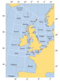 shipping forecast sea areas