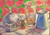 Whitish Still Life, oil, framed, £310