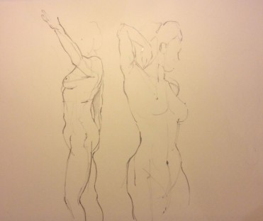Life Drawing, Sketch by Eleanor Measham