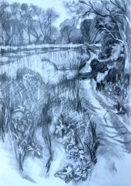 Light by the river, drawing, £180