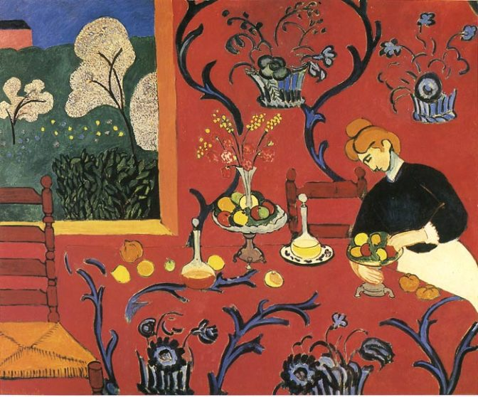 henri Matisse, red room