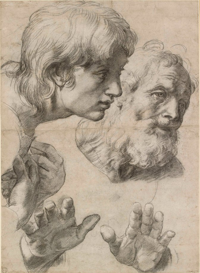 Raphael Drawing, Two Apostles