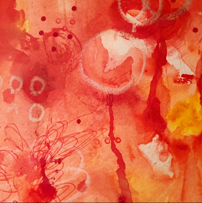 Thinking Aloud – experimenting with paint and colour