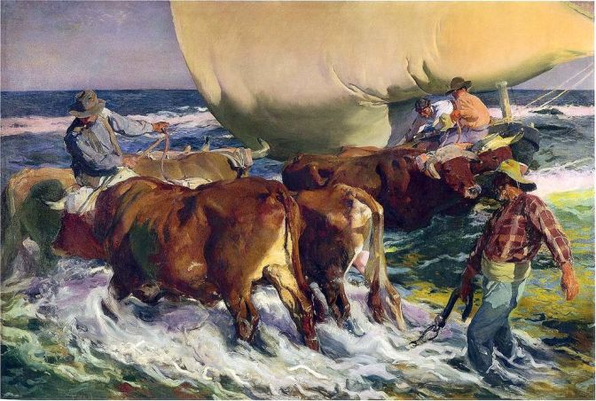Sorolla, paints and packing