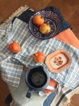 Orange and blue still life