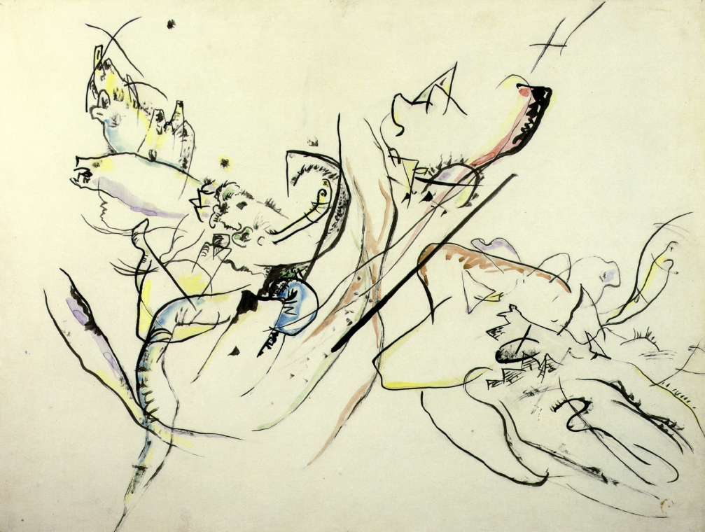 1915-16 Untitled watercolour & ink 47 x 63.5 cm Kandinsky