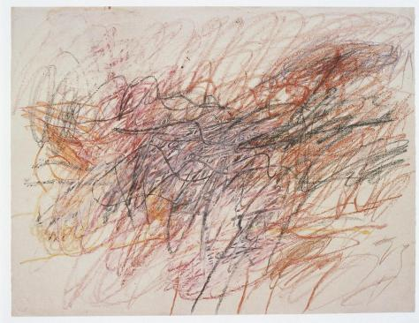 Cy Twombly - Untitled (color pencil, crayon on paper) 1954