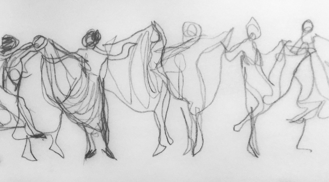 dance movement sketch
