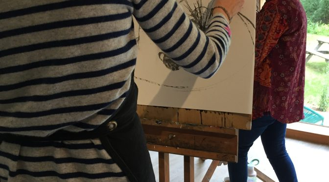 Drawing still lifes at Hampshire Art studio